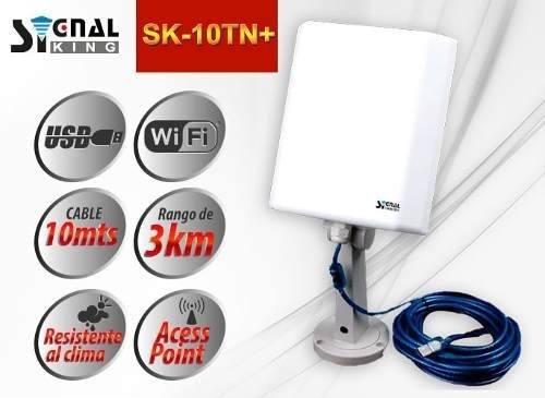 Antena Wifi Signal King Exterior 10mt 3km 58dbi Envio Gratis