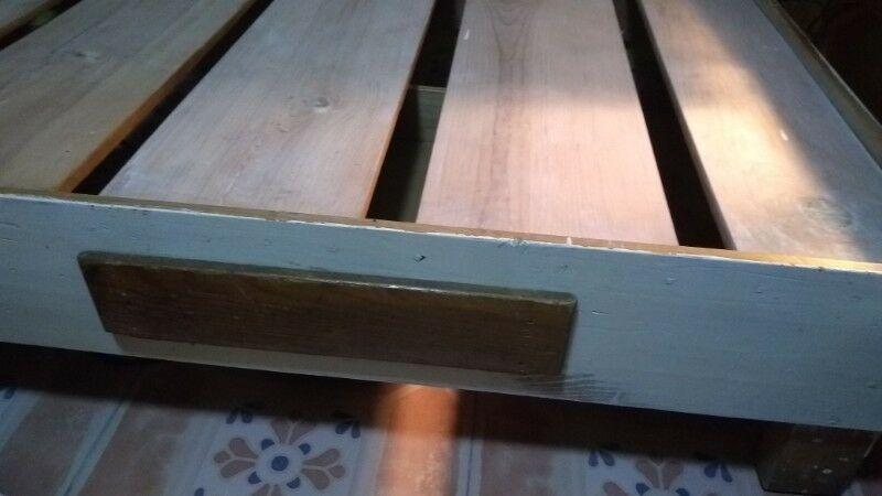 Base de cama individual madera