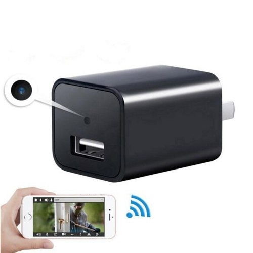 Camara Espia Cargador Usb Wifi Full Hd p Con Microfono