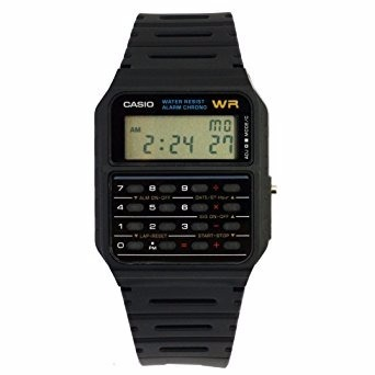 Casio Ca-53w-1z Reloj Calculadora De Resina, Unisex, Cuadrad