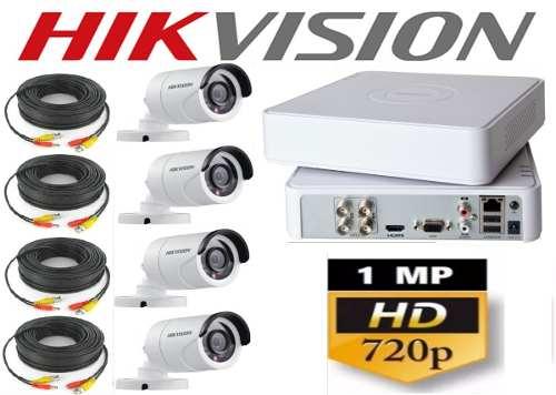 Kit Circuito Cerrado 4 Cámaras Hd 720p Hikvision