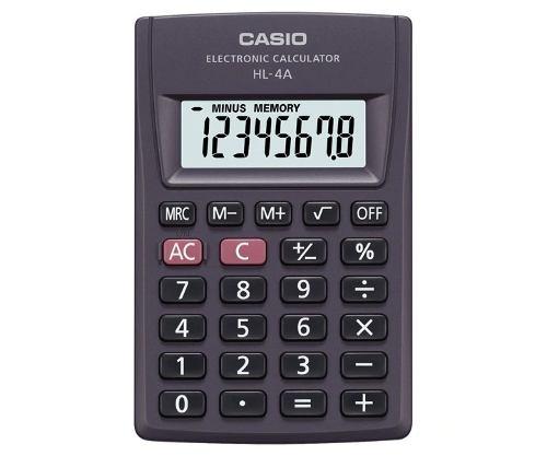 Paquete De 10 Calculadoras Casio De Bolsillo Hl-4