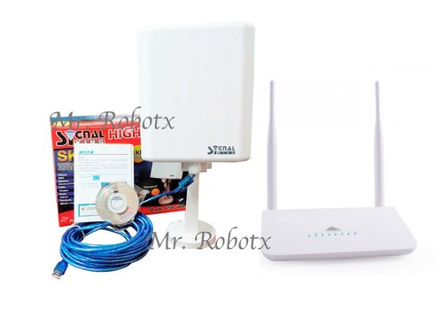 Paquete Wifi Antena Exterior Signal King Y Router R658