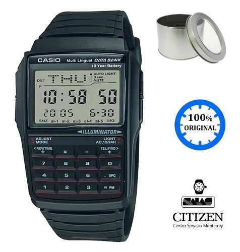Reloj Casio De Calculadora Dbc32 Contra Al Agua *watchsalas*