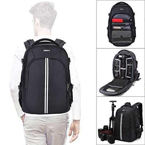 Abonnyc Camera Backpack Fit 2 Pro-sized Dslr/slr Camera Bag,