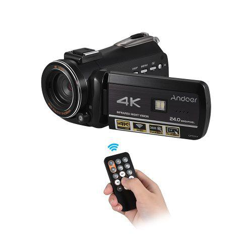 Ac3 4k Uhd 24mp Digital Vídeo Cámara Videocámara Del Rein