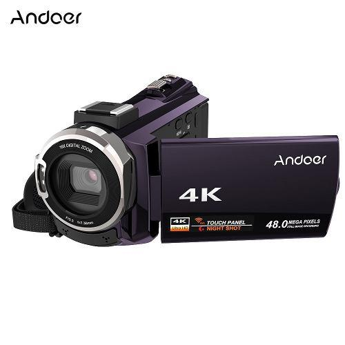 Andoer 4k 1080p 48mp Wifi Digital Vídeo Cámara Café