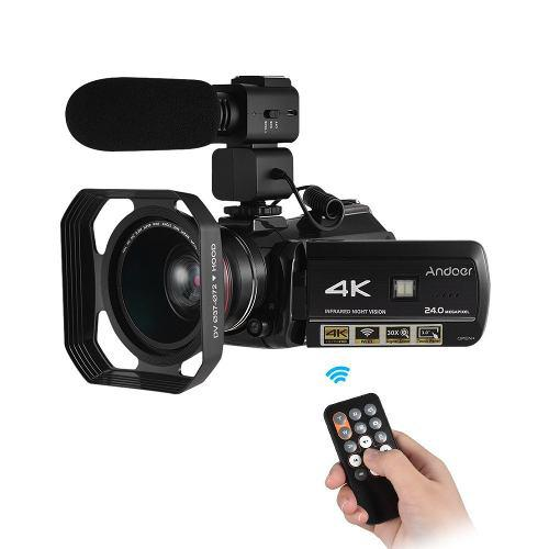 Andoer Ac3 4k Digital Vídeo Cámara Videocámara Con Eu Enc
