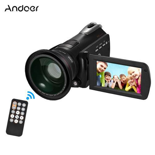 Andoer Hdv-d395 Cámara Vídeo Digital Dv Wifi 1080p Black1
