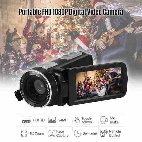 Andoer Portátil Fhd 1080p Digital Vídeo Cámara De La Vide