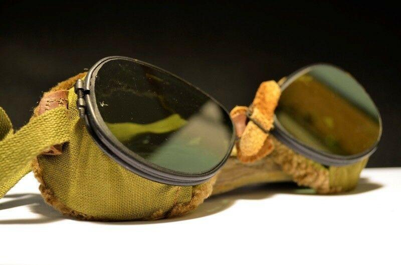 Antiguas gafas de Aviador corte Steampunk de USA 40s