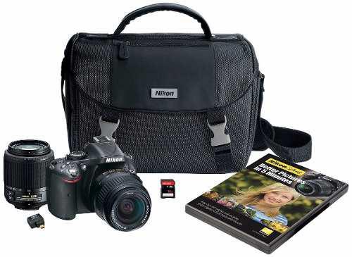 Camara Digital Nikon D5200 Digital Slr With 18-55mm & 55-200