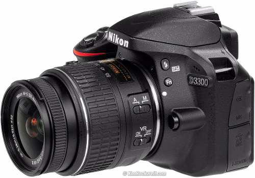 Camara Nikon D3300 24.2 Mp Con 18-55mm F/3.5-5.6 Af-s Vr Ii