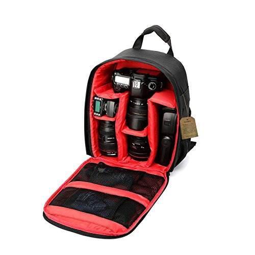 Camera Backpack Dslr Slr Camera Bag Video Padded Backpack Wa