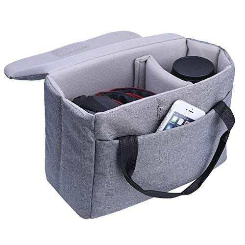 Camera Bag Insert Bomkee Dslr Slr Black Waterproof Foldable