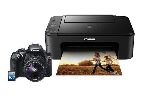 Canon - Kit Cámara Eos T6 Ef-s 18-55 Mm + Imp Ts3110 + Sd