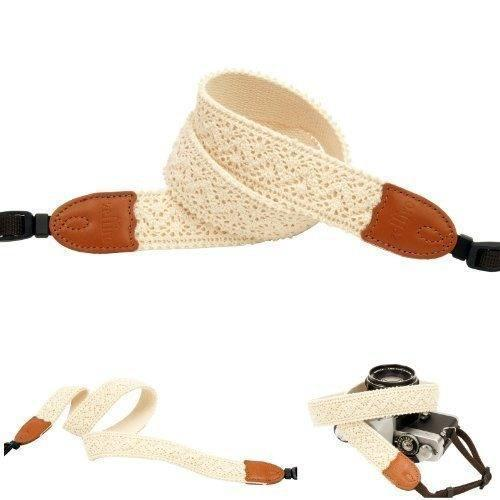 Chevron Ivory Lace Camera Neck Strap For Film Slr Dslr Rf Di