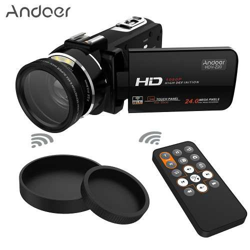 Cámara Digital Vídeo Hd Andoer Hdv-z20 1080p Negro D4372
