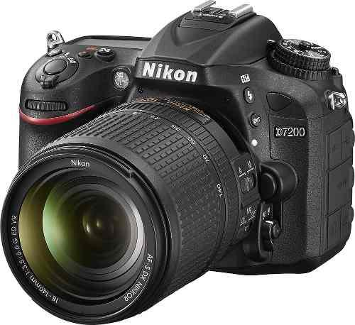 Cámara Nikon D7200 24.1 Mp Dx Con Lente 18 140mm Vr Wifi