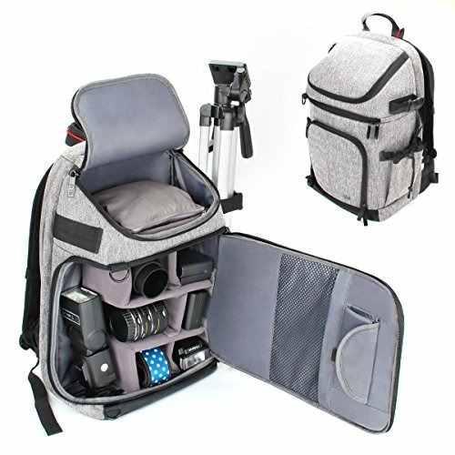 Dslr / Slr Camera Backpack With Padded Custom Dividers, Tri