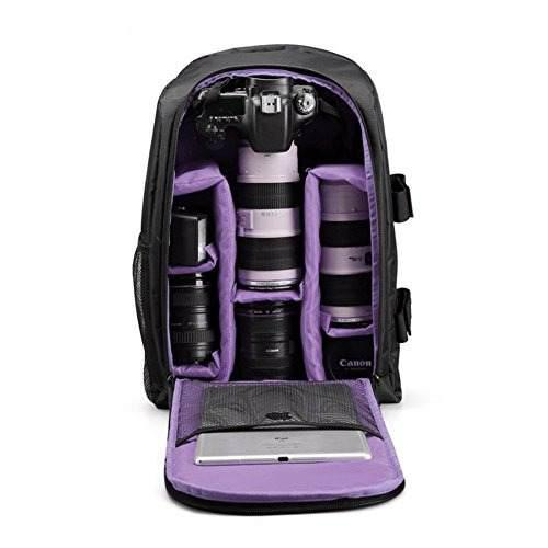 G-raphy Camera Backpack Camera Bag In Purple For Dslr Slr Ca