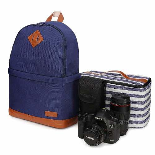 Kattee Professional Canvas Slr Dslr Camera Backpack Laptop B