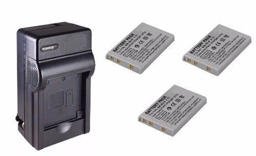 Kit 1 Cargador Y 3 Baterías En-el5 Para Cámara Digital