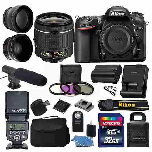 Kit 2 Completo Cámara Profesional Nikon D7200 24.2 Mp