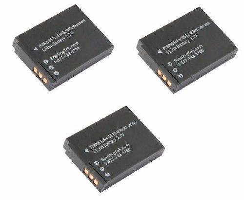 Kit 3 Baterías En-el12 Para Camara Digital S610 Aw120 Aw100