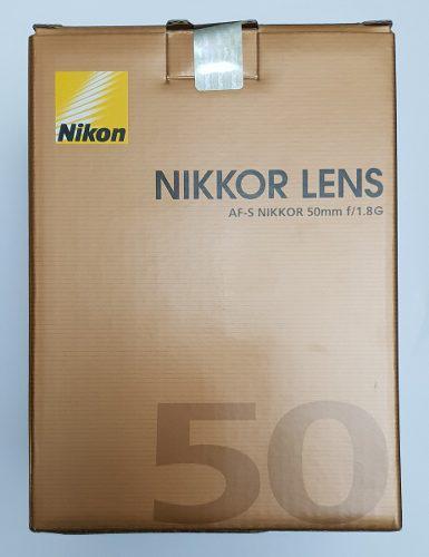 Lente 50mm F/1.8g Af-s Nikkor Para Nikon Reflex Slr