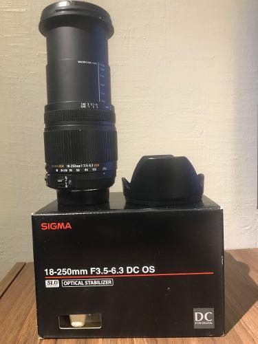 Lente Sigma 18-250 F3.5-6.3 Dc Os - Nikon Slr
