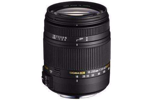 Lente Sigma 18-250mm F3.5-6.3 Dc Macro Os Hsm Para Canon Slr