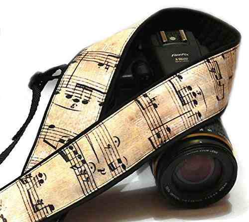 Music Camera Strap. Vintage Notes Camera Strap. Dslr, Slr Ca