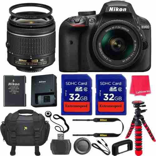 Nikon D D3400 24.2mp Cámara Digital Slr - Negro (kit W /