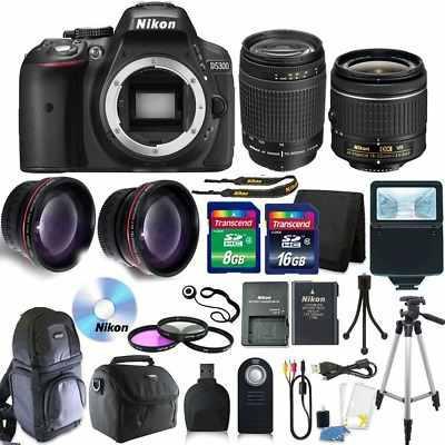 Nikon D5300 Digital Slr Cámara Con Lente 18-55vr + Lentes