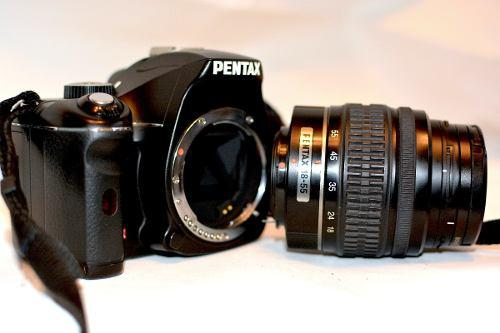 Pentax Kx 12.4 Mp Digital Slr-negra, Con Lente 18-55mm Dal