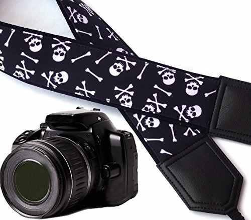 Skull Camera Strap. Modern Dslr / Slr Camera Strap. Black An