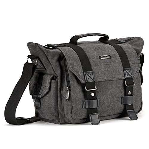 Slr Camera Bag, Evecase Large Canvas Messenger Slr/dslr Came