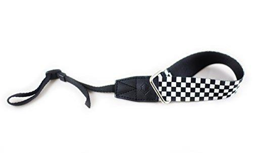 Tether Checkered Design Wrist Camera Strap For Dslr Or Slr C