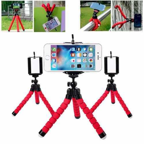 Tripie Flexible Con Soporte Para Smartphone Y Cámara