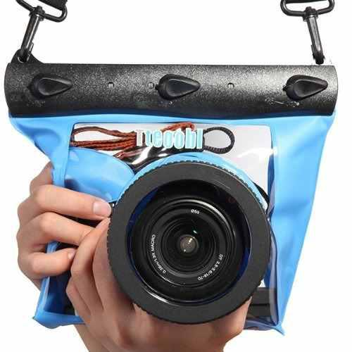 Tteoobl Blue Waterproof Bag Pouch Case Cover For Slr Dslr Ca
