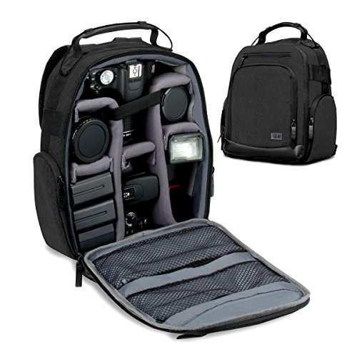 Usa Gear Portable Camera Backpack For Dslr/slr (black) W/cus