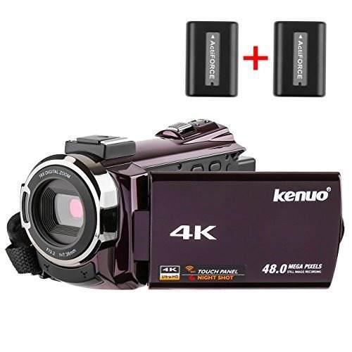 Videocámara Kenuo 4k, Cámara De Vídeo Digital Ultra Hd Hd