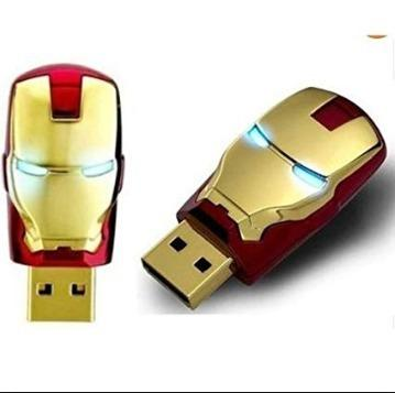 Memoria Usb Figuras Cara Iron Man Roja 16gb 16ulcabezaironr