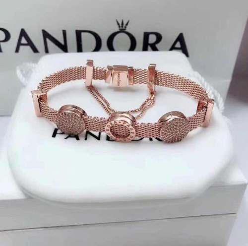 Pulsera Pandora Reflexions De Plata Color Oro Rosa