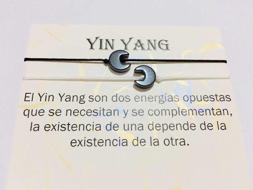 Pulsera Yin Yang Piedra Onix Pareja