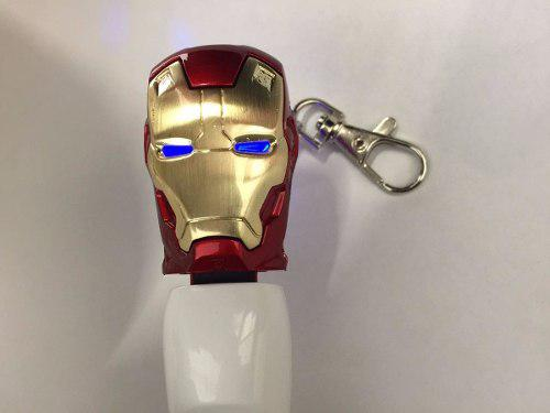 Usb 16gb Figuras Cara Iron Man Roja 16ulcabezaironr