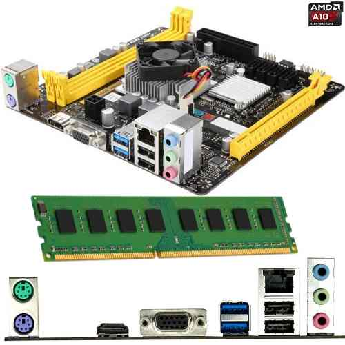 Kit De Actualización Amd A10 Quad Core 8gb Ddr3 Ram Hdmi