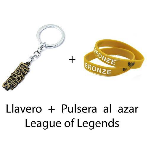 Oferta Llavero + 1 Pulsera Al Azar Gratis! League Of Legends