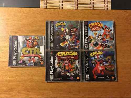 Crash Bandicoot 1 2 3 Warped Bash Team Racing Lote Ps1 Ps3